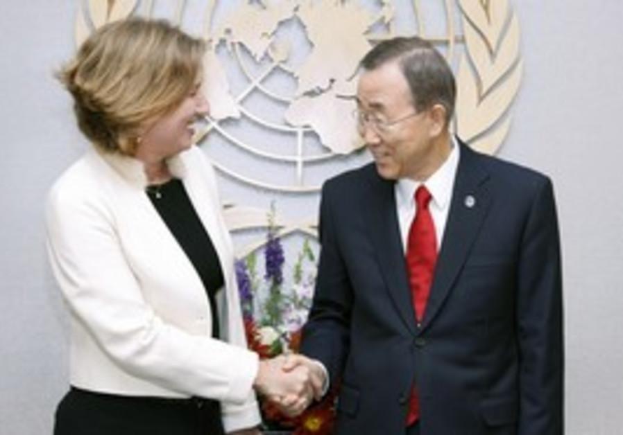 Tzipi Livni and Ban Ki-moon [file]