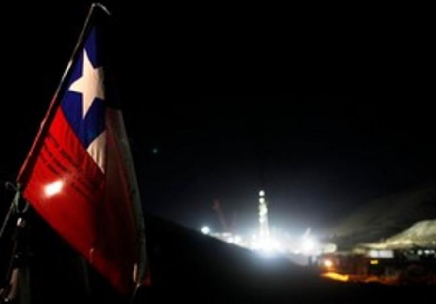 Drilling in chile mine