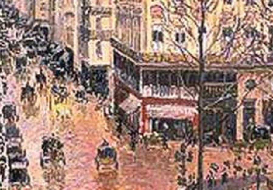 Rue St.-Honoré, Après-Midi Effet de Pluie painting
