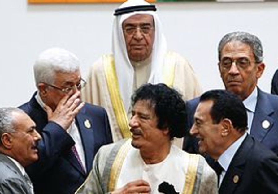 Abbas with Arab leaders