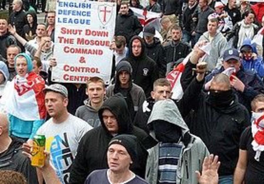 English Defence League rally.