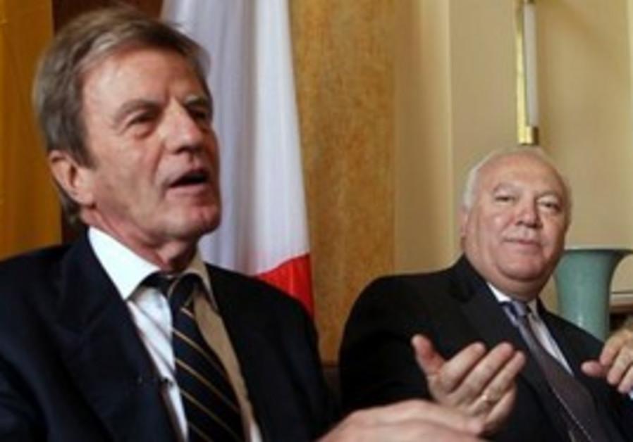 Bernard Kouchner and Miguel Moratinos.