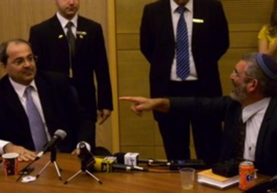 Ahmed Tibi and Michael Ben-Ari.