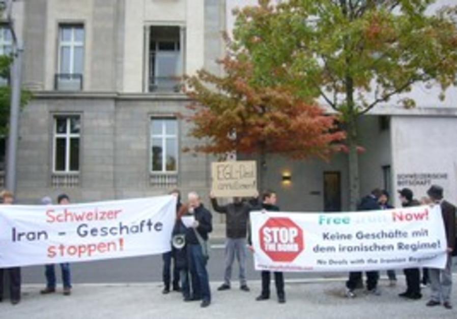 Switzerland Iran sanctions protest