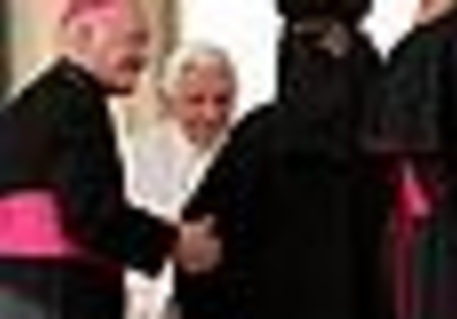Pope Benedict XVI receives bishops of the Middle E
