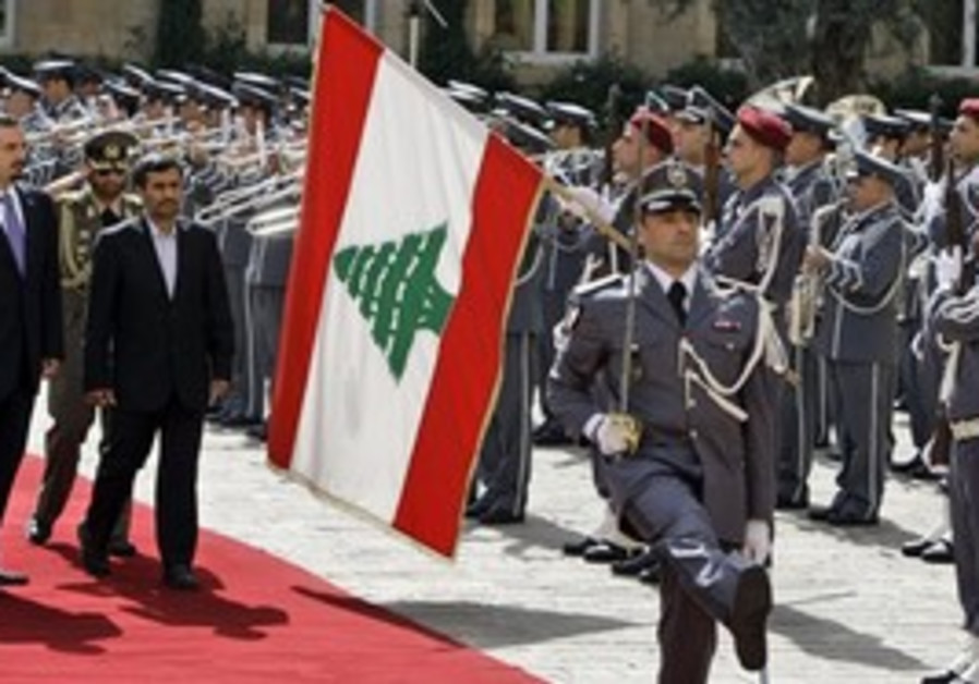 Ahmadinejad in Beirut, Thursday
