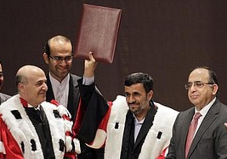 Ahmadinejad receives an honorary degree in Lebanon