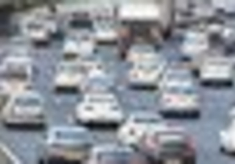 Traffic in Tel Aviv.