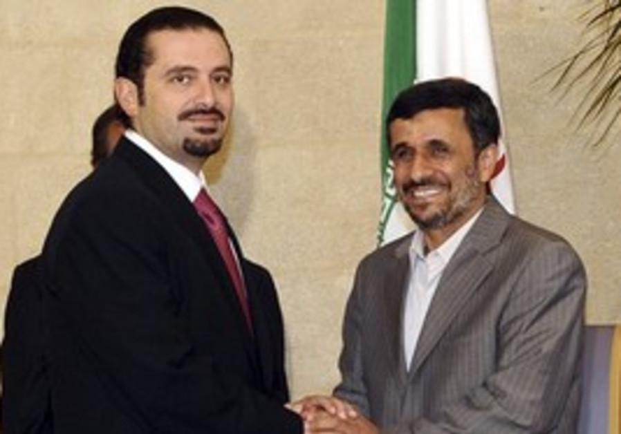 Sa'ad Hariri and Mahmoud Ahmadinejad