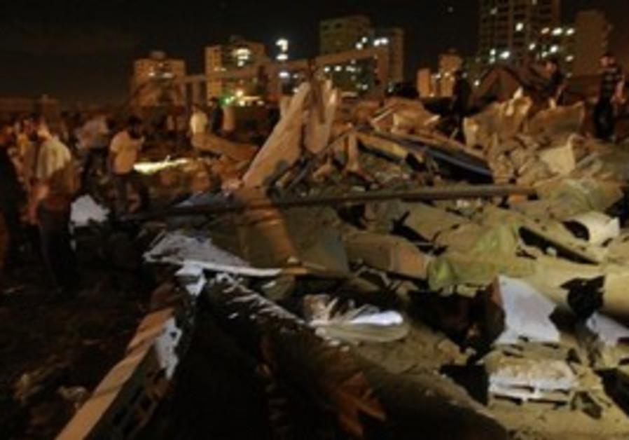 Gaza strike aftermath
