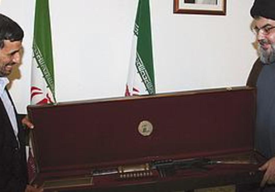 Ahmadinejad receives gift from Nasrallah