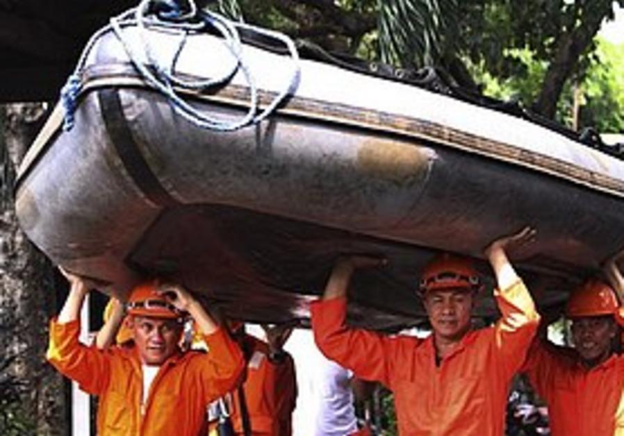 Preparing for typhoon Megi in the Philippines.