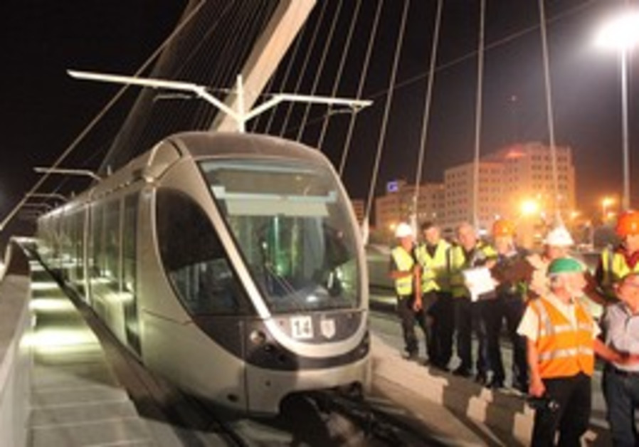 Jerusalem rail workers test the new tram