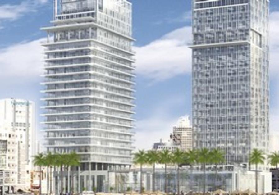 An artist's rendering of planned Kempinski Hotel