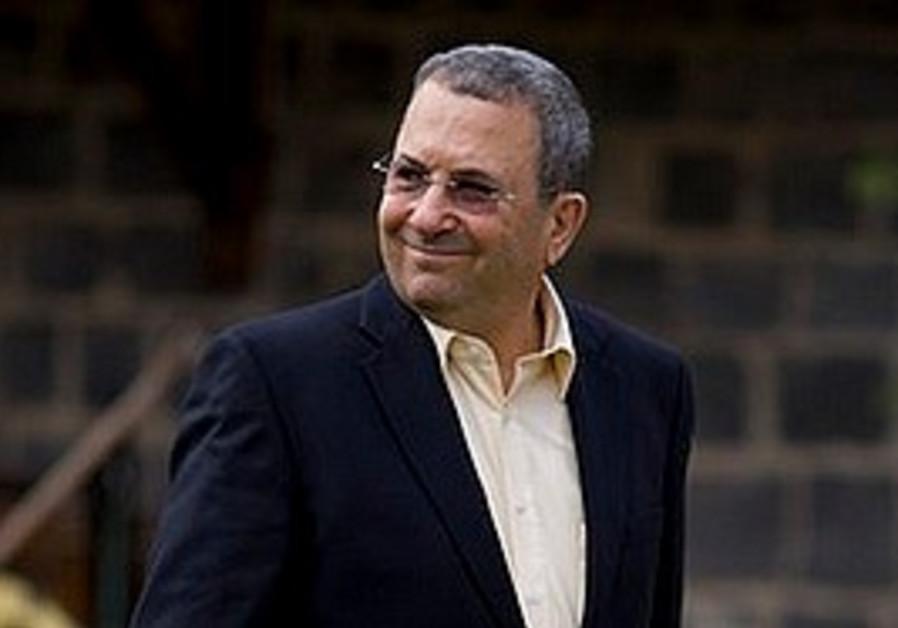 Defense Minister Ehud Barak
