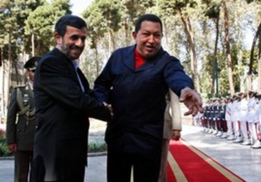 Hugo Chavez meets with Mahmoud Ahmadinejad
