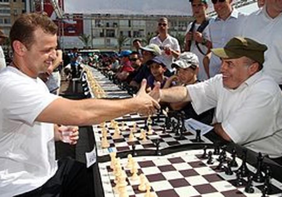 Chess champ Alik Gershon and Natan Sharansky