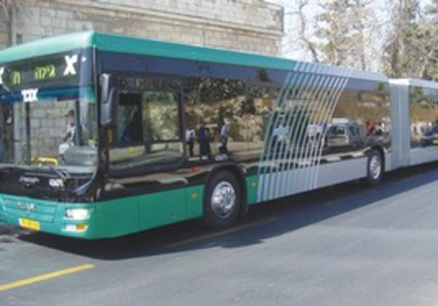 One of the city's new express buses