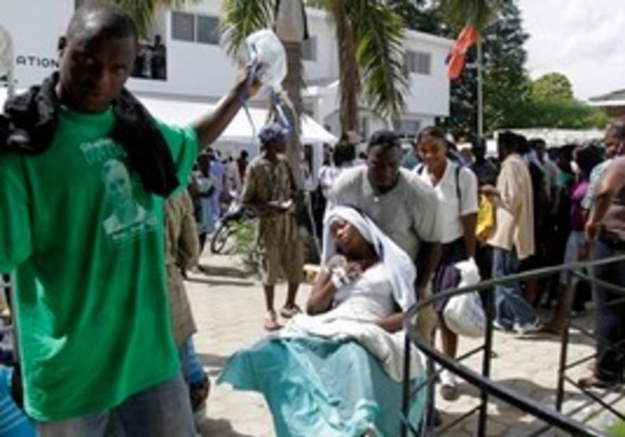 Sick patients wait at St. Nicholas hospital.