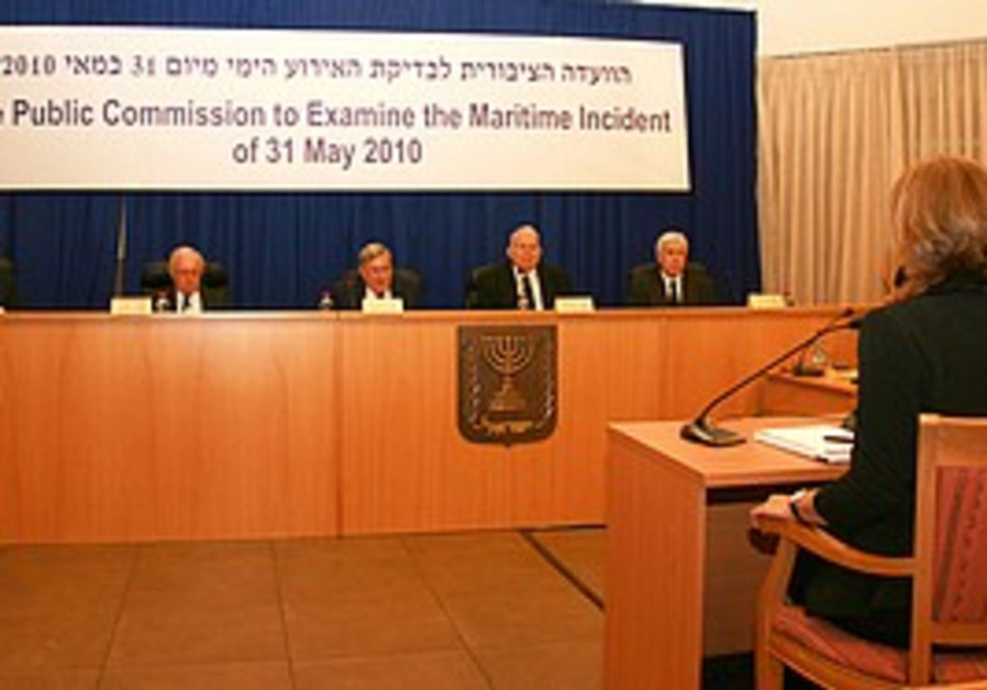 Livni testifies before the Turkel Commission, Mon.