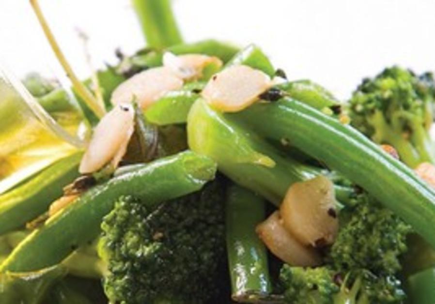 Baked vegetables in oilve oil