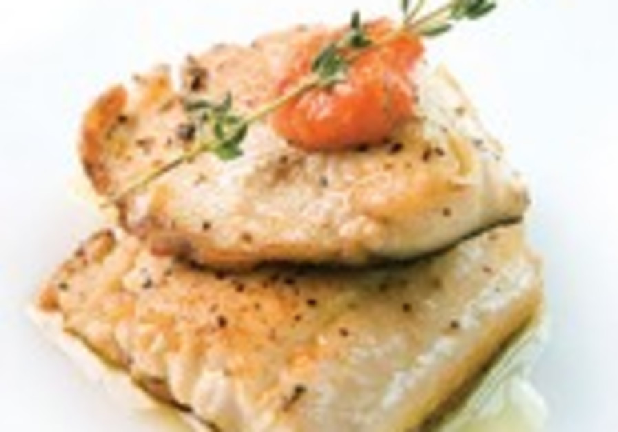 Baked Fish with hot pepper salsa