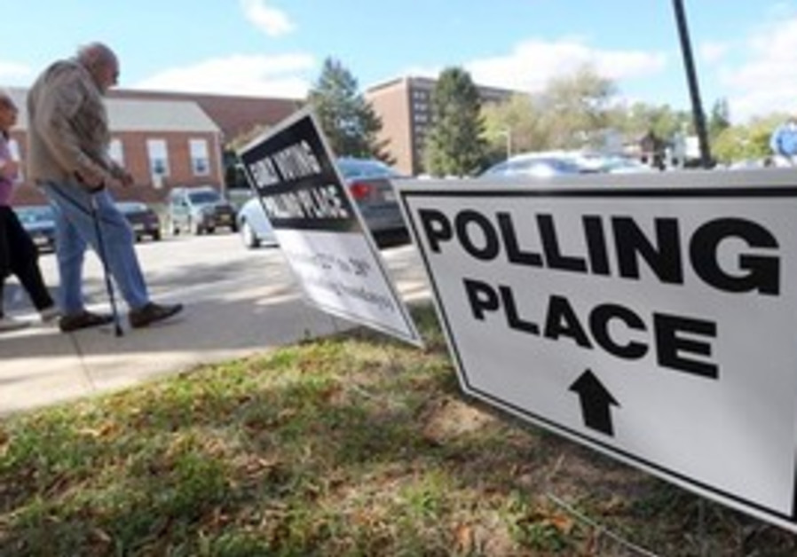 Polling station in Baltimore