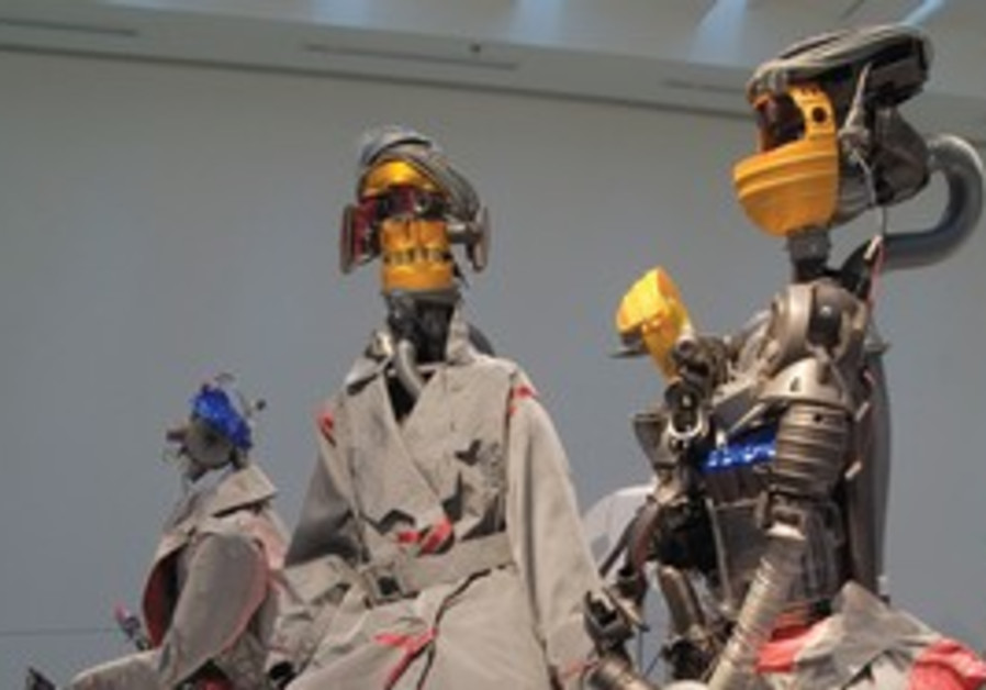Robots dressed in garments inspired by deconstruct