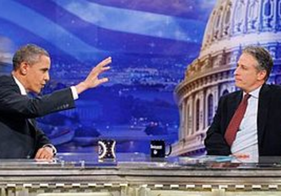 US President Barack Obama and Comedian Jon Stewart