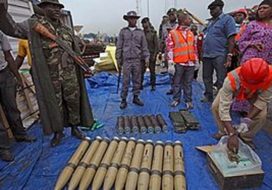 Weapons found in Nigeria