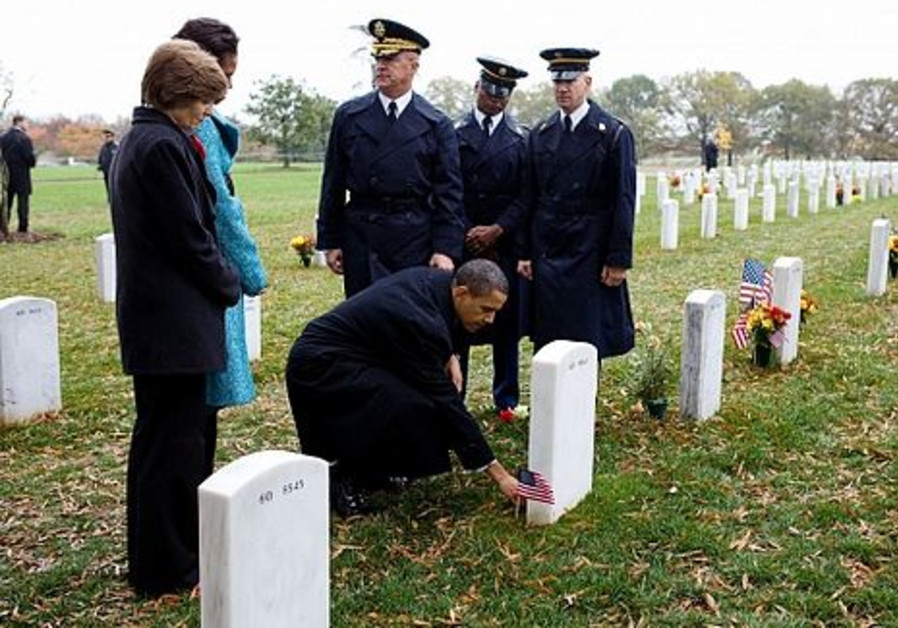 President Barack Obama at Arlington Cemetery