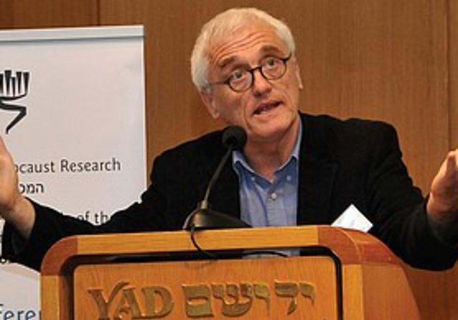 Professor Jan T. Gross at Yad Vashem.