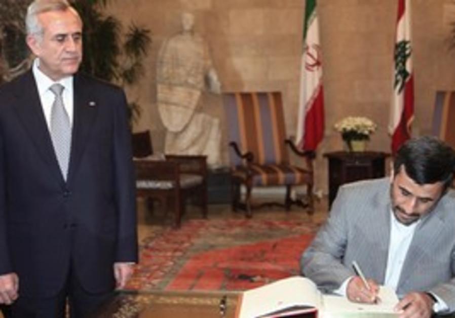Lebanese President Suleiman with Ahmadinejad