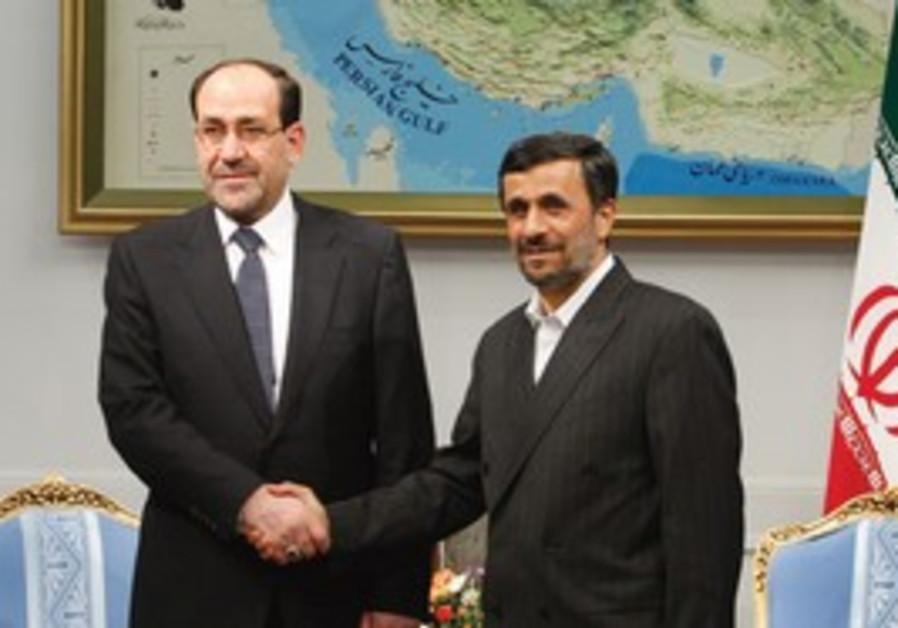 Iraqi PM Maliki with Ahmadinejad