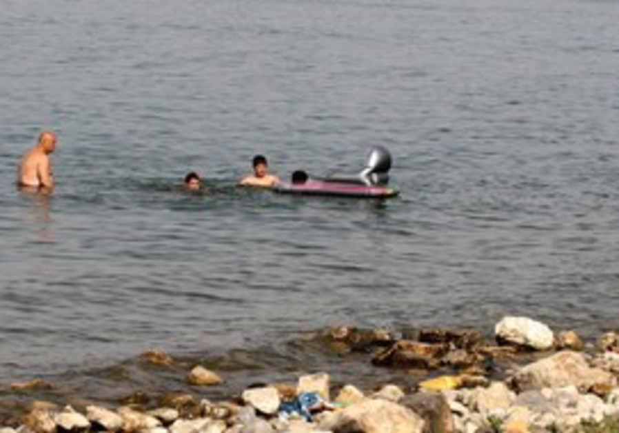 LAKE KINNERET'S water level dropped another 20 cm