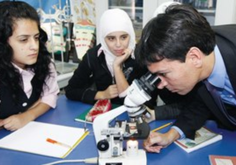 DANNY DANON (Likud) at Al-Mamunia school.