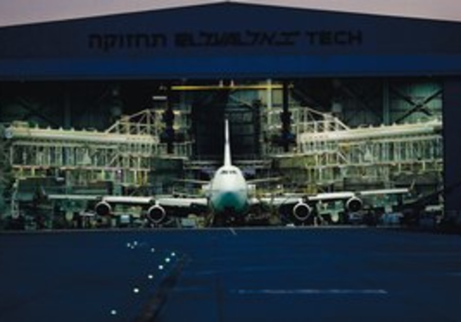 A PASSENGER plane sits at Ben-Gurion Airport.