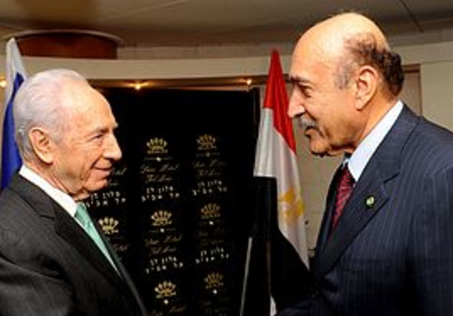 Shimon Peres and Omar Suleiman