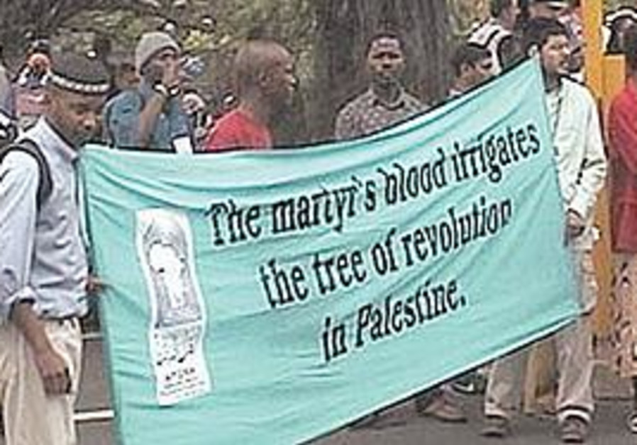 A SCENE from the 2001 Durban conference, dubbed by