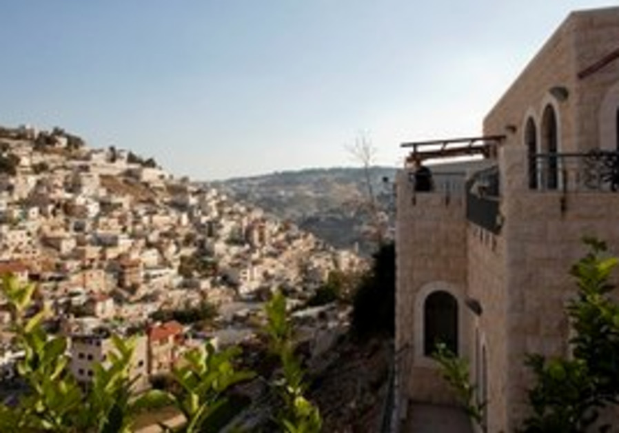 A Jewish-owned home in the neighborhood of Silwan