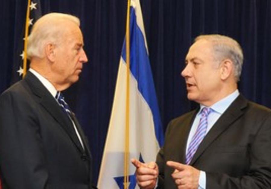 US VP Joe Biden meets PM Binyamin Netanyahu.