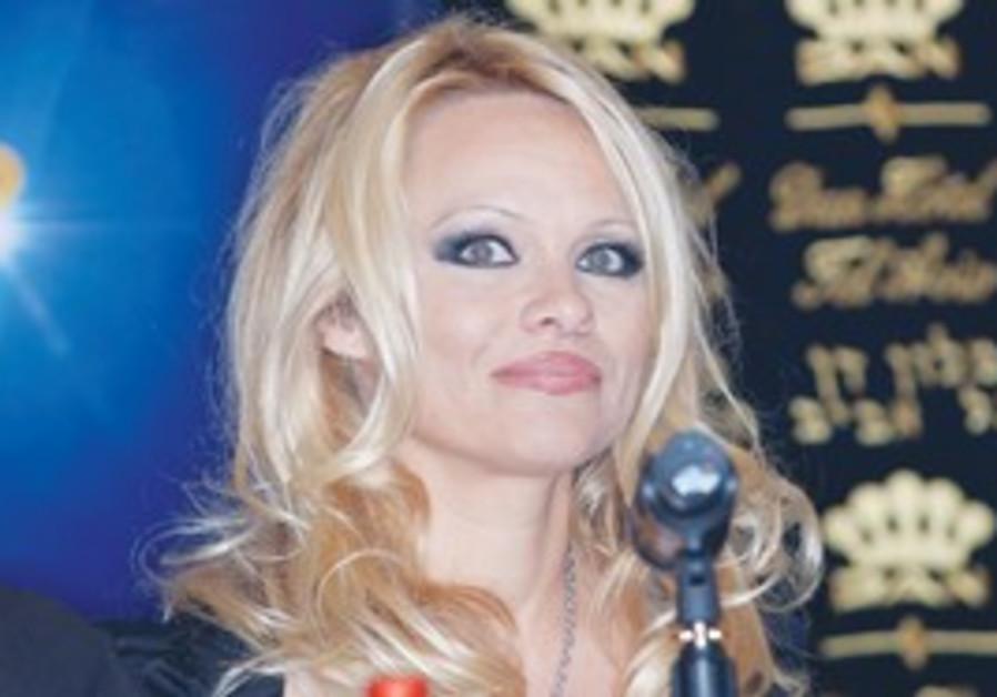 Pamela Anderson in Israel.