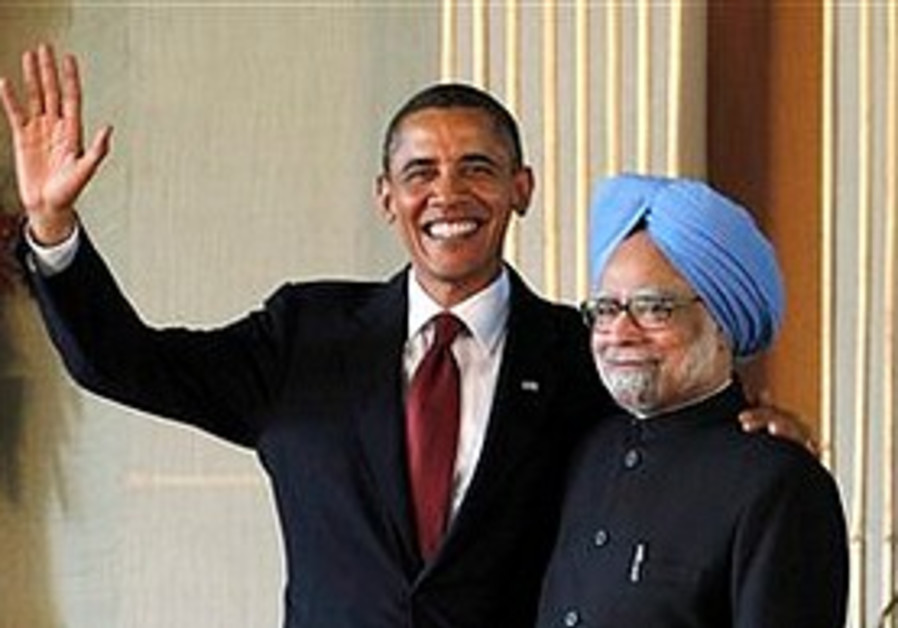 Barack Obama and Manmohan Singh, Nov. 8.