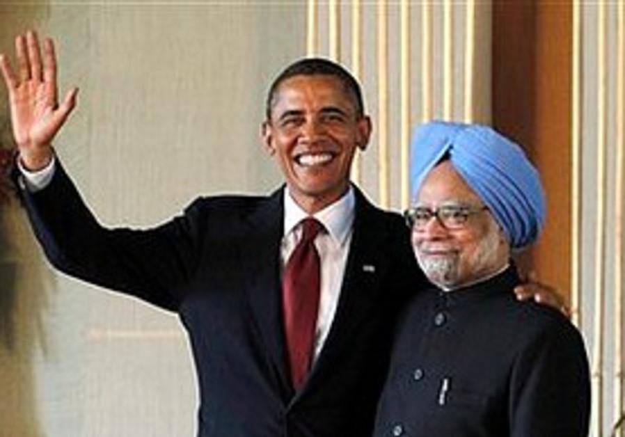 Barack Obama and Manmohan Singh, Nov. 8.