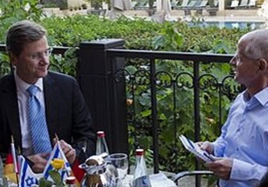 Westerwelle meets Noam Schalit in Jerusalem, Sun.