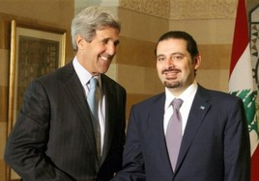 John Kerry and Saad Hariri