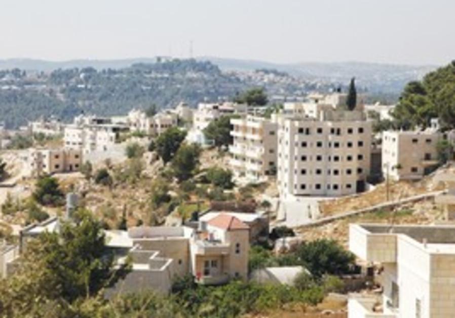 Palestinian village of Walaja near Jerusalem