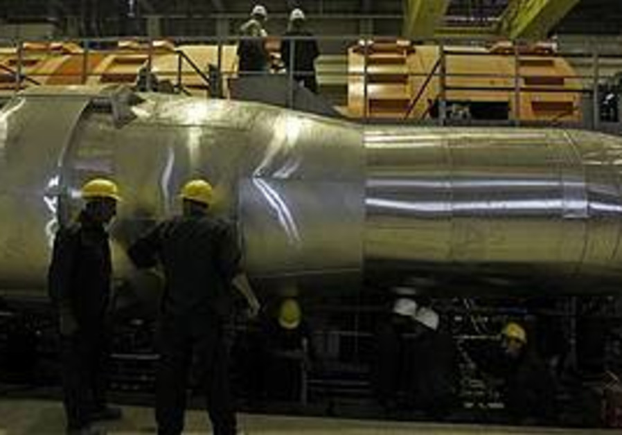 Workers in the Bushehr nuclear power plant