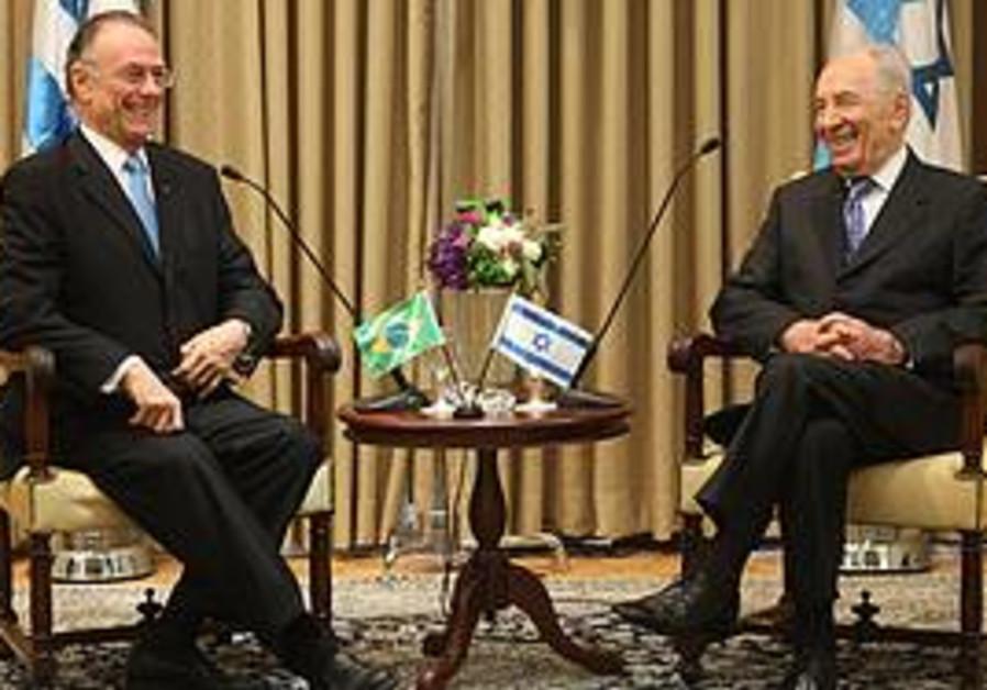 President Shimon Peres and Carlos Arthur Nuzman