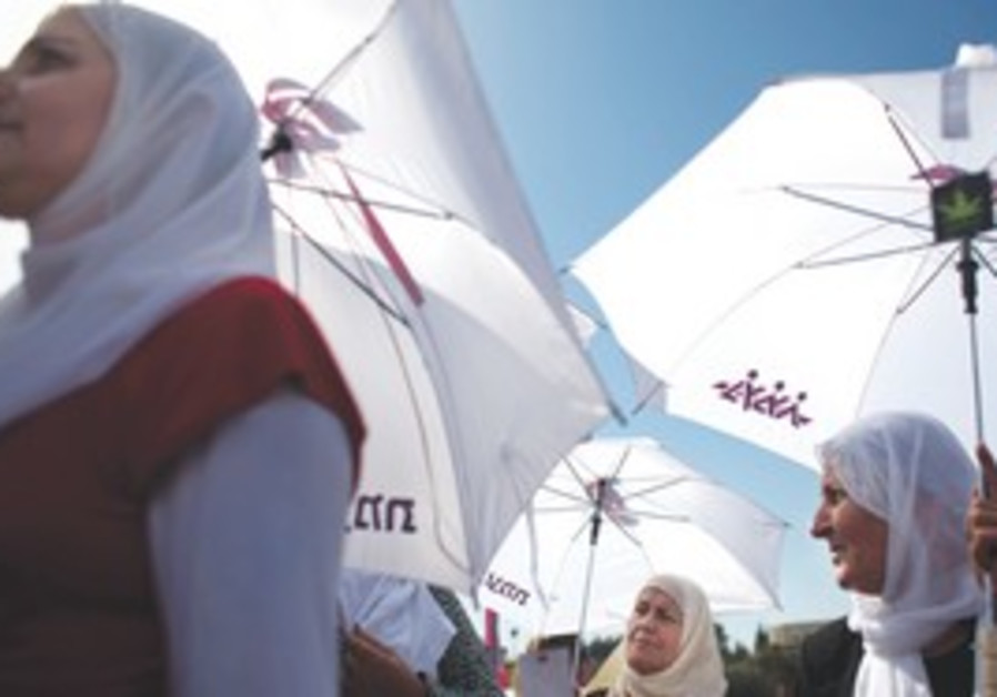 Palestinian and Druse women at Race for the Cure